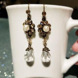 3/$20 $Brand newhandmade pearl Crystal earrings